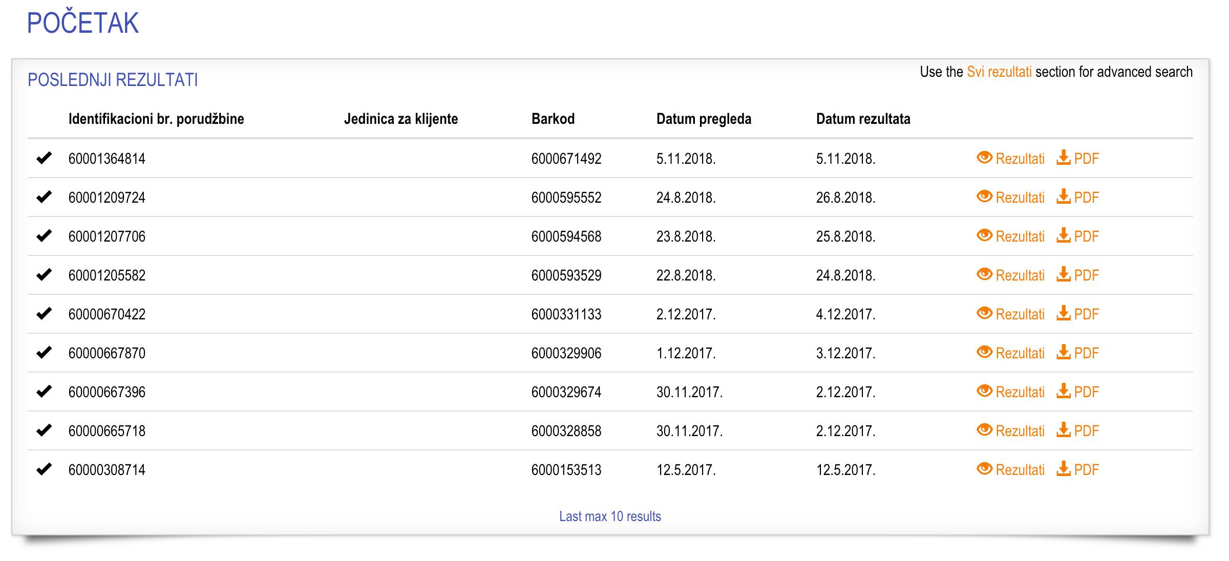 web-rezultati-pocetna-lista