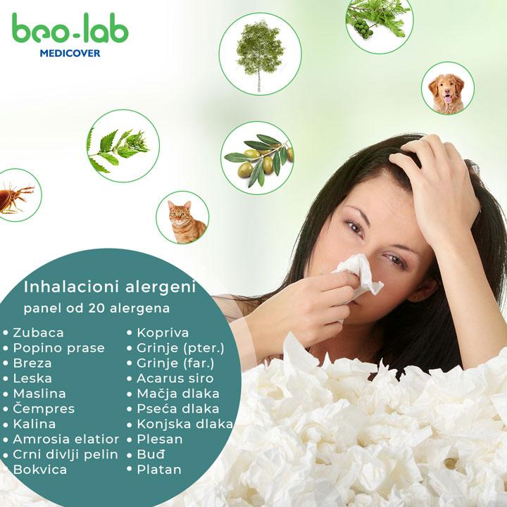 inhalacioni alergeni panel od 20 alergena