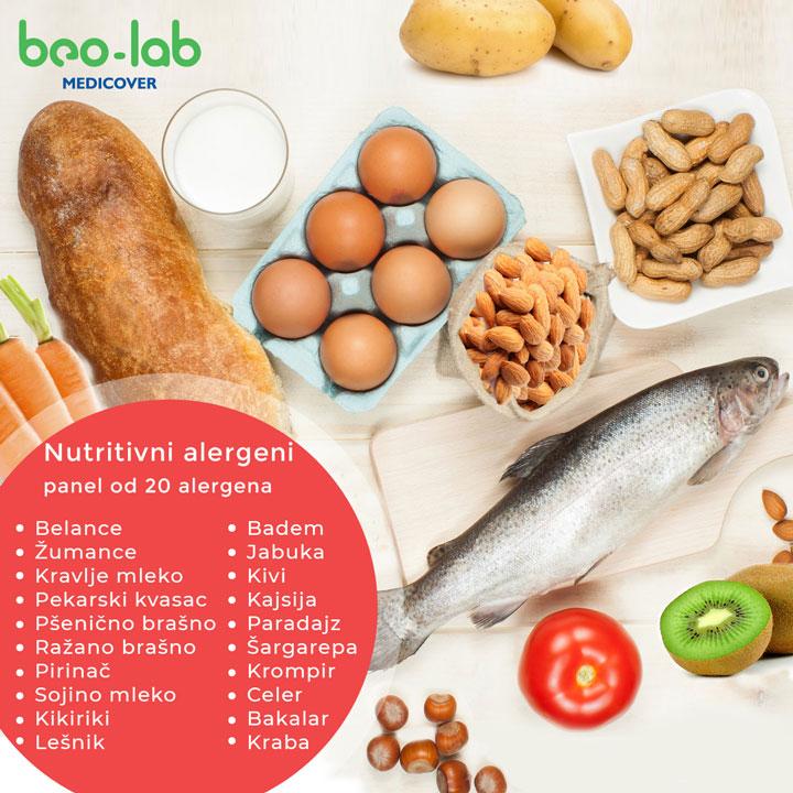 nutritivni alergeni - panel 20 nutritivnih alergena