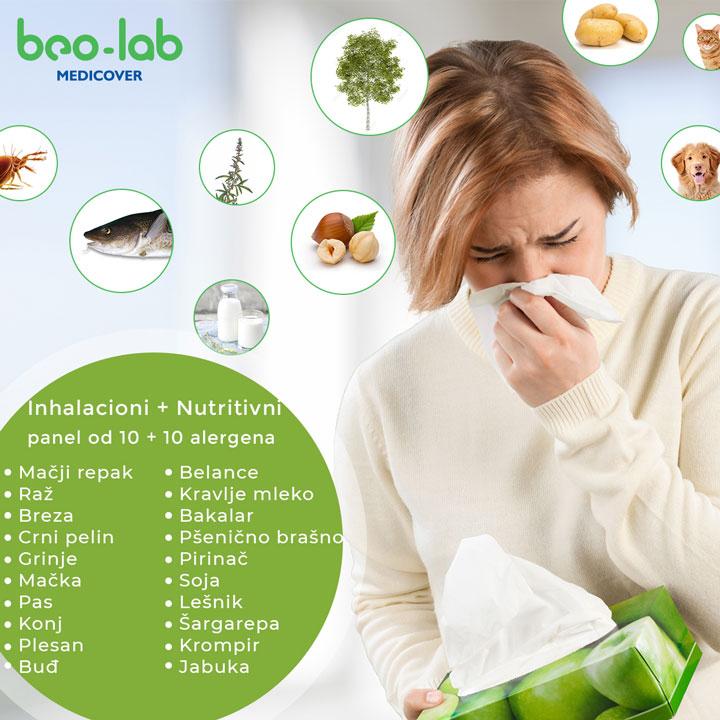 mix alergeni 10 inhalacionih +10 nutritivnih alergena