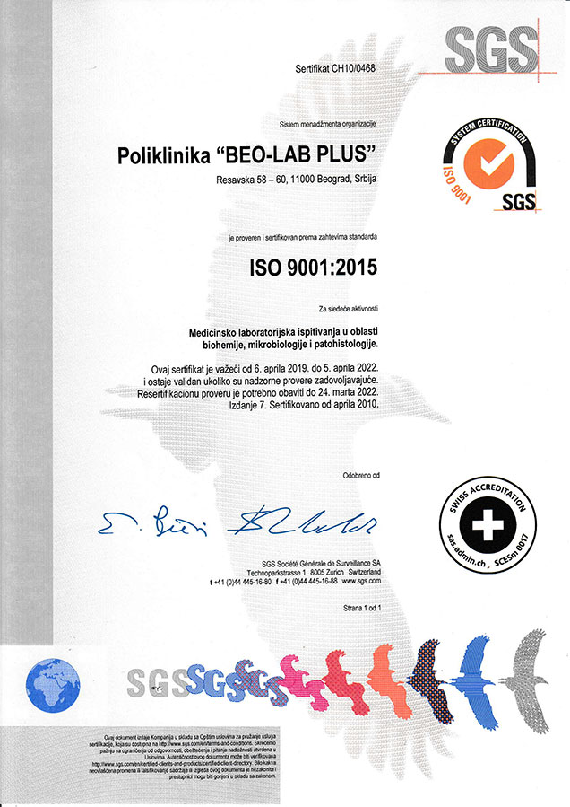 SGS Sistem Kvaliteta Beo-Lab