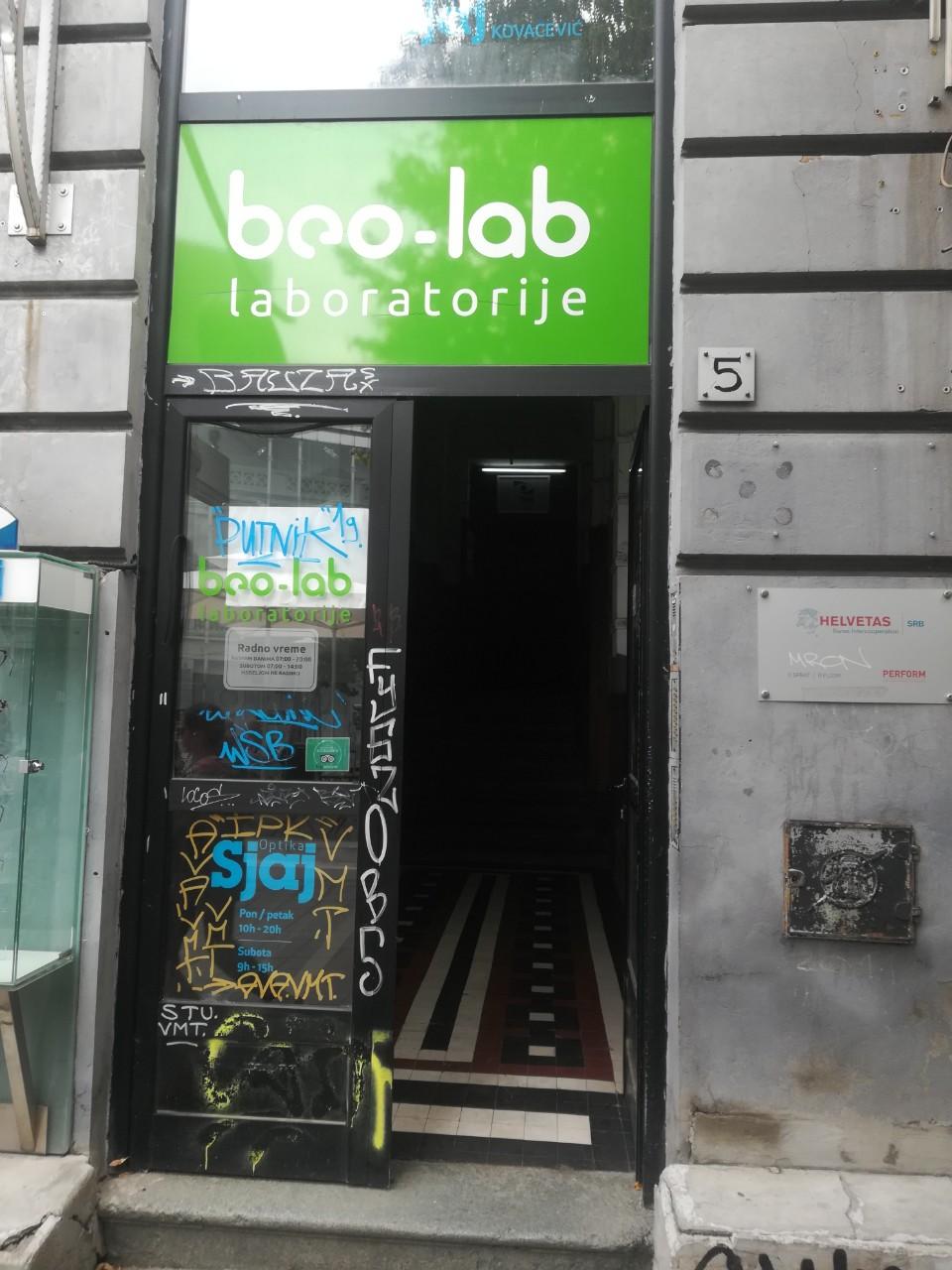 Beo-lab laboratorija Vračar Njegoševa 5 3
