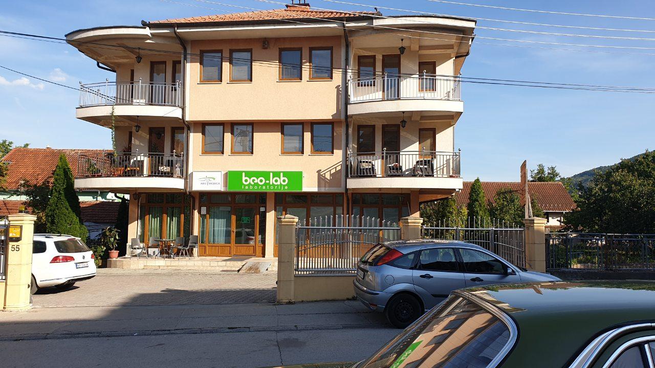 Beo-lab laboratorija Novi Pazar, Kosančićeva 55 1