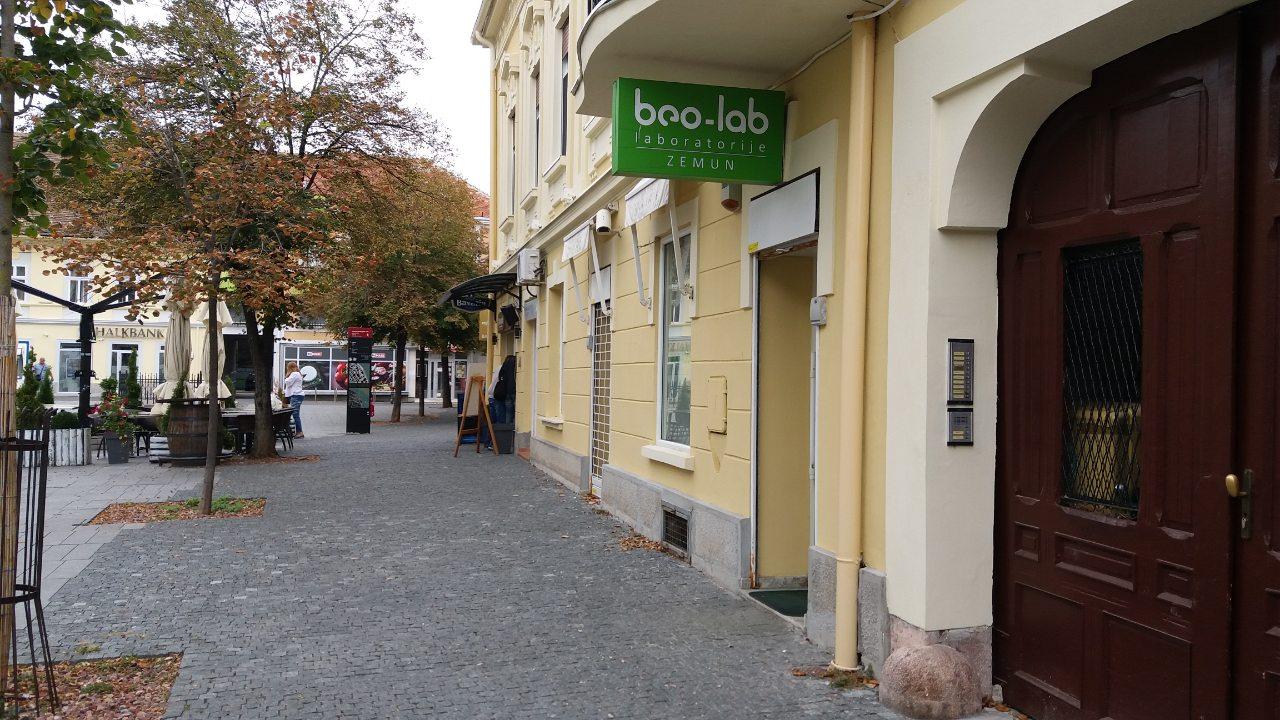 Beo-lab laboratorija Zemun, Magistratski Trg 14 3