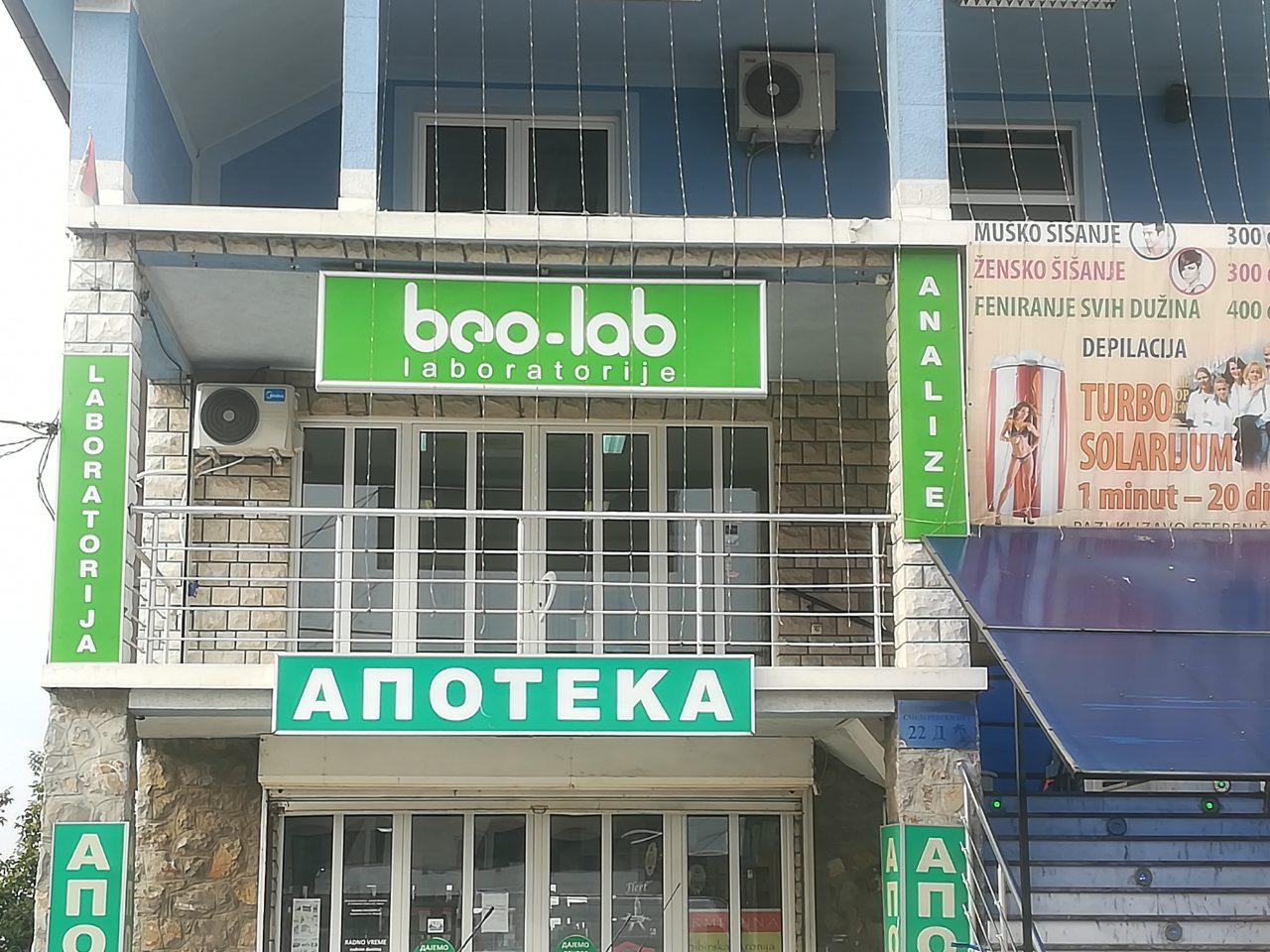 Beo-lab laboratorija Kaluđerica, Smederevski put 24b 5