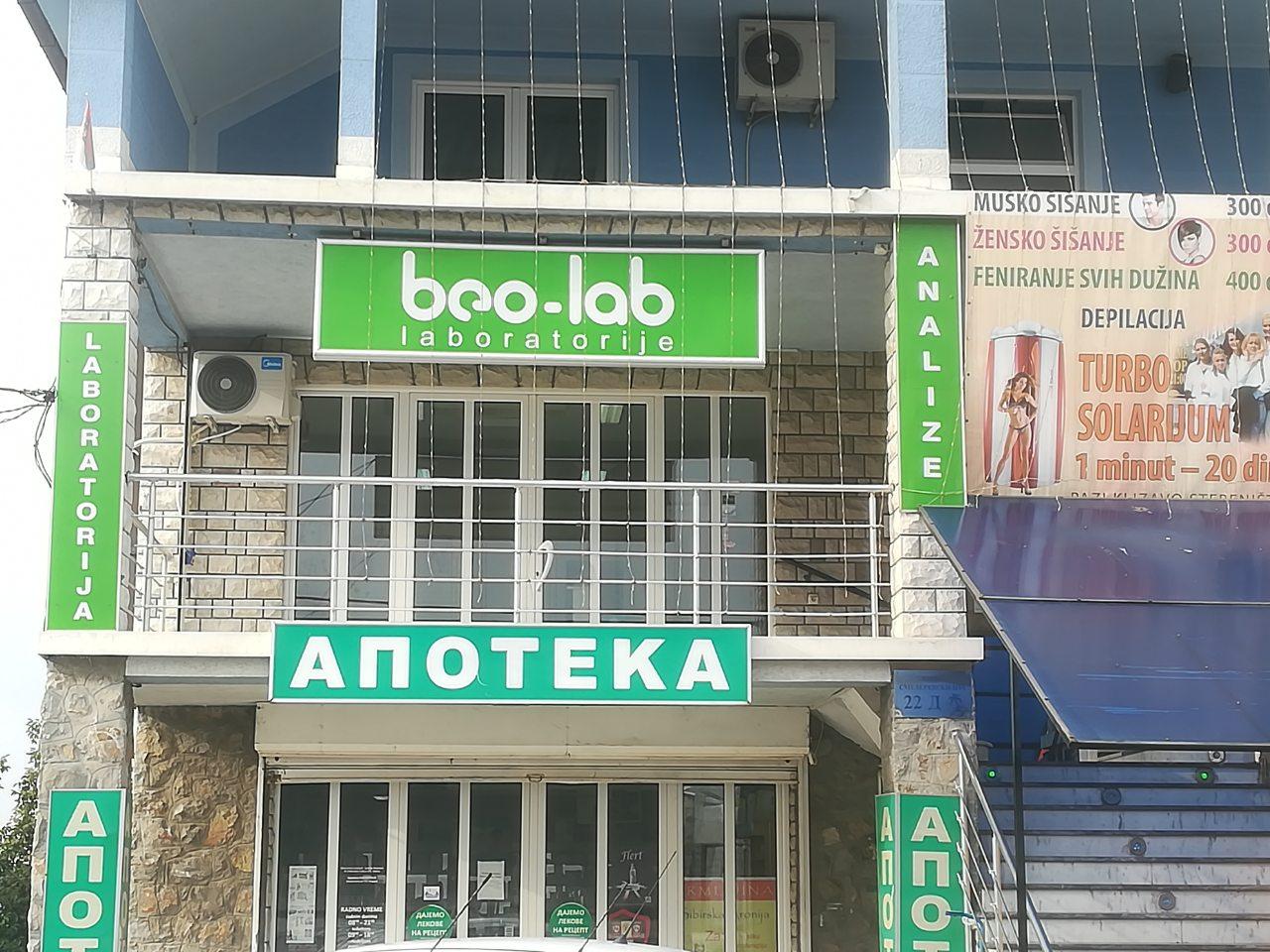 Beo-lab laboratorija Kaluđerica, Smederevski put 24b 7