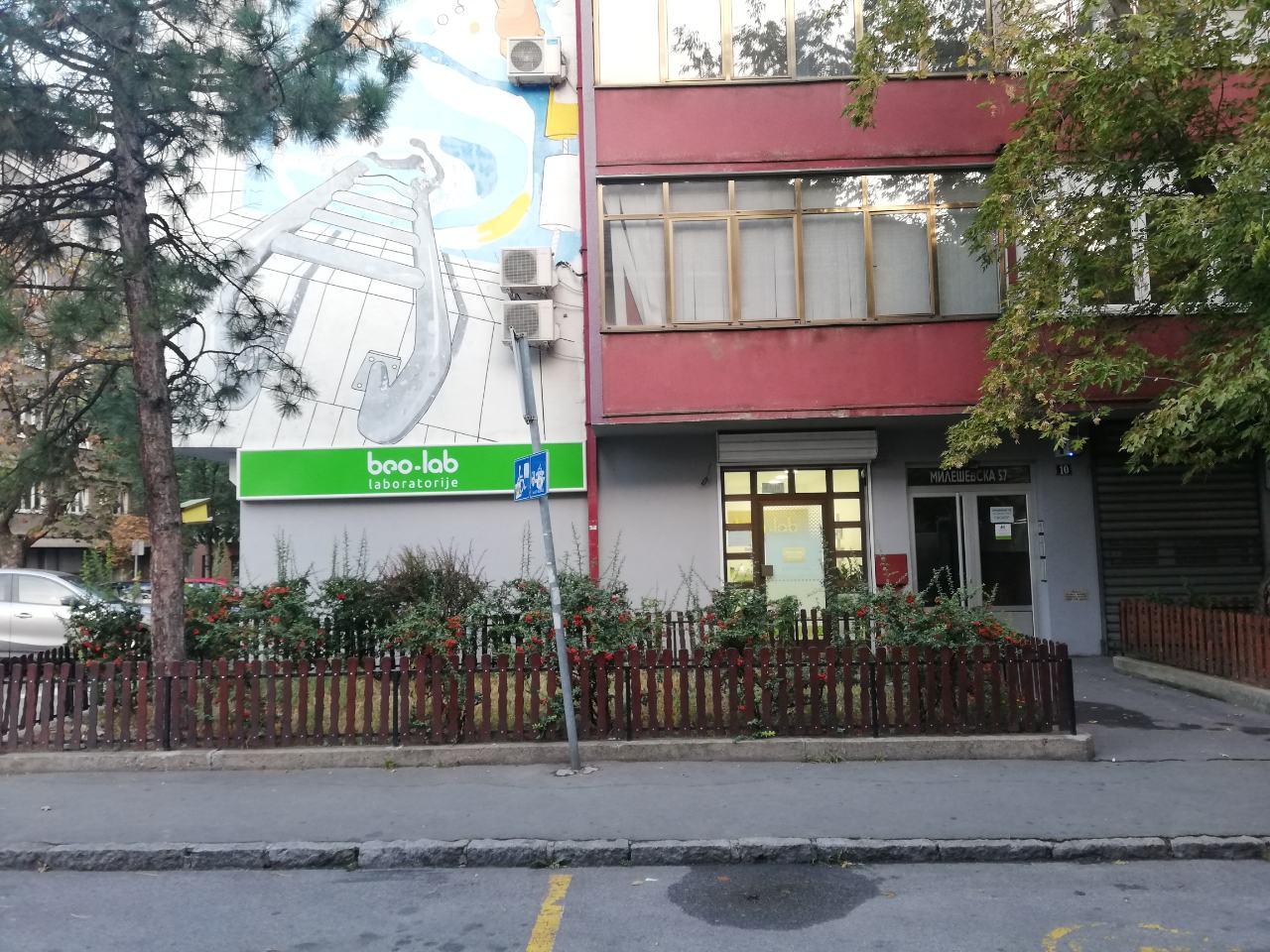 Beo-lab laboratorija Vračar, Mileševska 53 1
