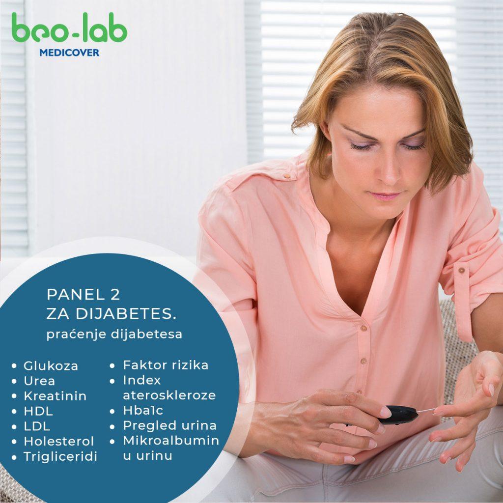 panel analiza za praćenje dijabetesa