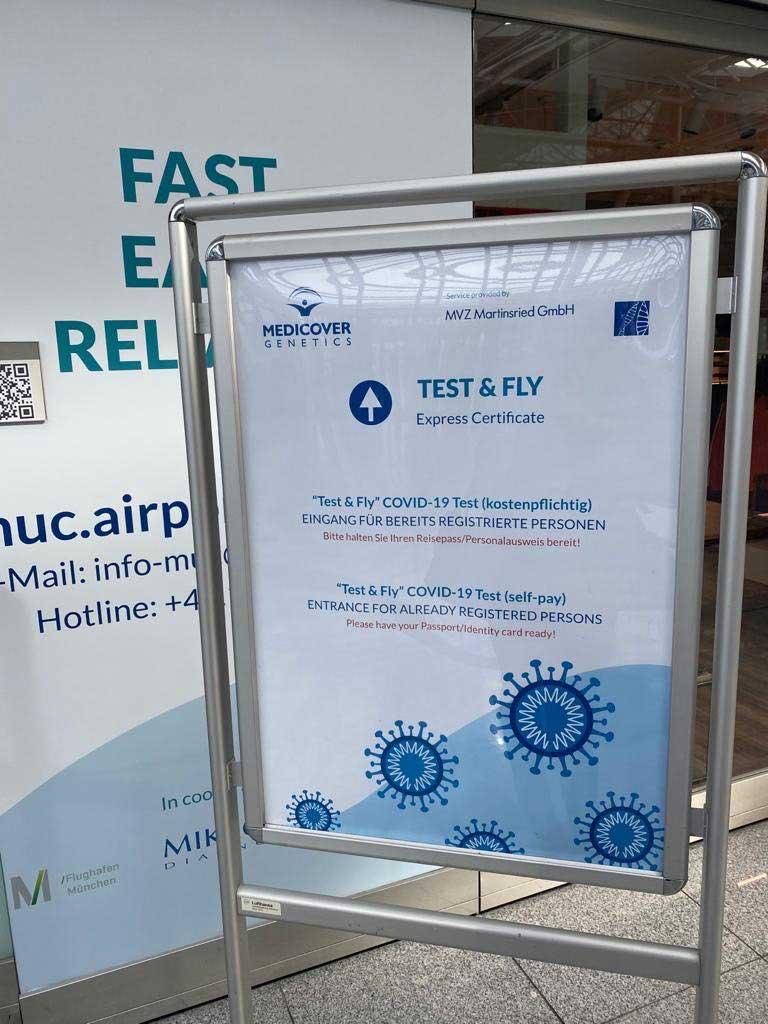 Na aerodromu u Minhenu otvoren je COVID-19 testni centar 2